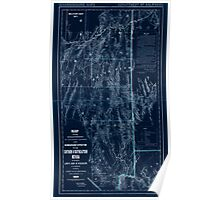 Civil War Maps 1043 Map showing detailed topography of the country traversed by the reconnaissance expedition through southern and southeastern Nevada Inverted Poster