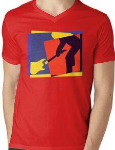 Rock Guitar Smash Mens V-Neck T-Shirt