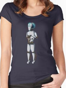 Robot and Kitty Women's Fitted Scoop T-Shirt
