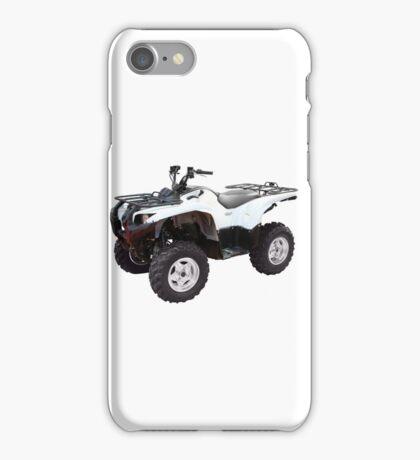 white 4x4 atv isolated iPhone Case/Skin
