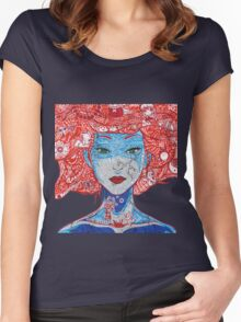 Anime Girl  Women's Fitted Scoop T-Shirt