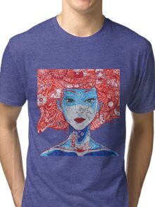Anime Girl  Tri-blend T-Shirt