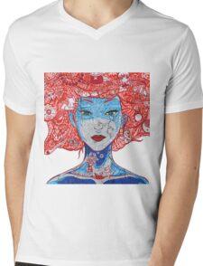 Anime Girl  Mens V-Neck T-Shirt
