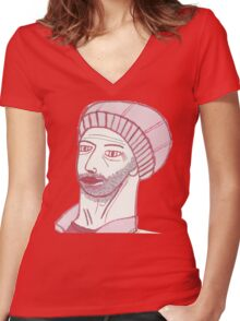 Rob Delves Women's Fitted V-Neck T-Shirt