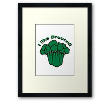 Vegetables I like broccoli nature garden Framed Print