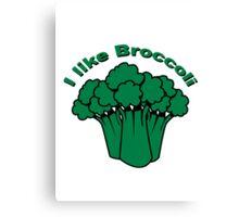 Vegetables I like broccoli nature garden Canvas Print