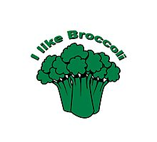 Vegetables I like broccoli nature garden Photographic Print