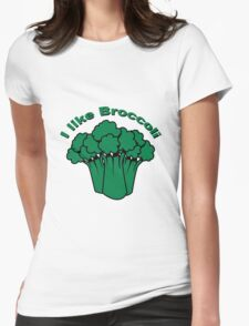 Vegetables I like broccoli nature garden Womens Fitted T-Shirt