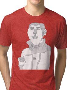 Smoking man Tri-blend T-Shirt