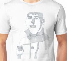 Smoking man Unisex T-Shirt