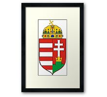 Medieval Coat of Arms of Hungary  Framed Print