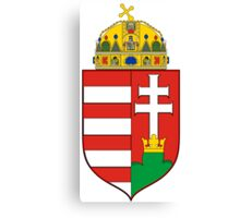 Medieval Coat of Arms of Hungary  Canvas Print