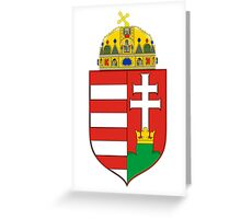 Medieval Coat of Arms of Hungary  Greeting Card