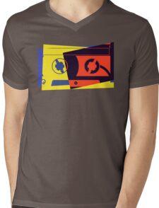 Pop Art Cassette Tape Mens V-Neck T-Shirt