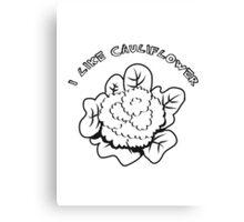 Vegetables I like cauliflower nature garden Canvas Print