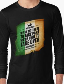 Conor McGregor - [Take Over Flag] Long Sleeve T-Shirt