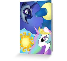 Celestia and Nightmare Moon Greeting Card