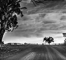 Storm Rolling In B&W by Candice84
