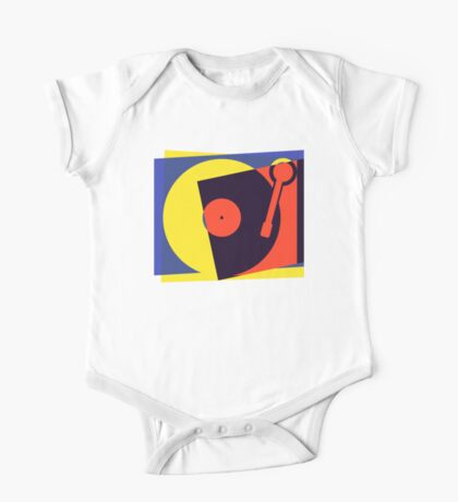 Pop Art Turntable One Piece - Short Sleeve