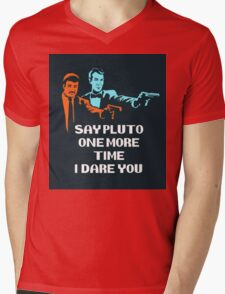 Say Pluto One More Time Mens V-Neck T-Shirt