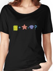 Sponge + Starfish = Clam? Women's Relaxed Fit T-Shirt