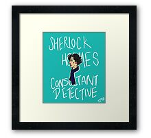 The Consultant Detective Framed Print