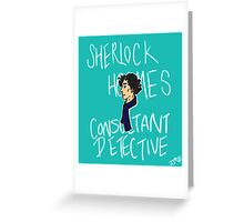 The Consultant Detective Greeting Card