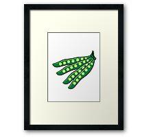 Vegetables beans organic garden Framed Print