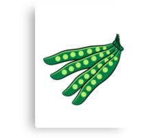 Vegetables beans organic garden Canvas Print