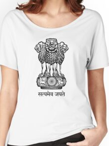 Emblem of India  Women's Relaxed Fit T-Shirt
