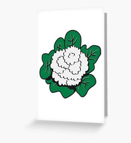 Vegetables cauliflower nature garden Greeting Card
