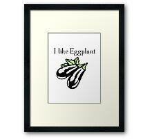 Vegetables Eggplant nature garden Framed Print