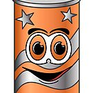 Orange Soda Can Cartoon by Graphxpro