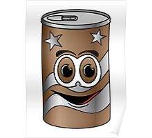 Brown Soda Can Cartoon Poster