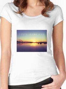 Surya Namaskar II Women's Fitted Scoop T-Shirt