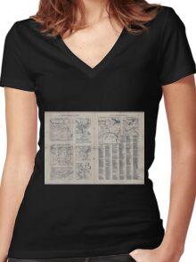 Civil War Maps 1809 The Tribune war maps 02 Women's Fitted V-Neck T-Shirt