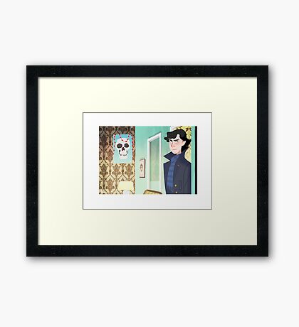 Sherlock at 221B Framed Print