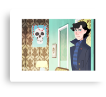 Sherlock at 221B Canvas Print