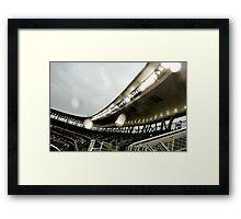 Stadium - Light Rain Framed Print