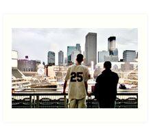 Stadium - Background Art Print