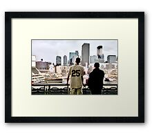Stadium - Background Framed Print