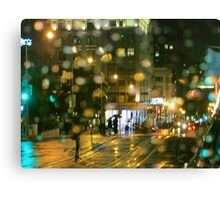 Powell Street Rainy Night Canvas Print