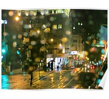 Powell Street Rainy Night Poster