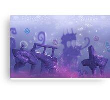 Underwater Ruins - Painting Canvas Print