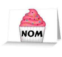 Nom Yummy Cupcake With Sprinkles Greeting Card