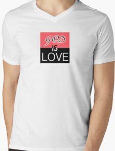 God is Love Mens V-Neck T-Shirt