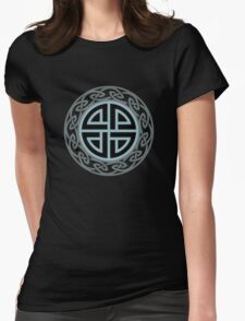 Celtic Shield Knot, Protection, Four Corner, Norse, Viking Womens Fitted T-Shirt