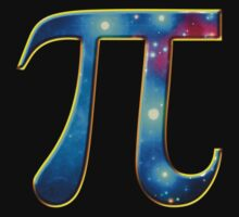 Pi π Galaxy Science Mathematics Math Irrational Number Sequence One Piece - Short Sleeve