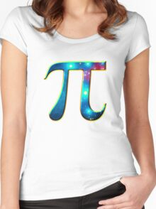 Pi π Galaxy Science Mathematics Math Irrational Number Sequence Women's Fitted Scoop T-Shirt