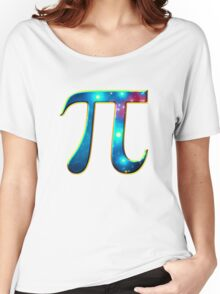 Pi π Galaxy Science Mathematics Math Irrational Number Sequence Women's Relaxed Fit T-Shirt